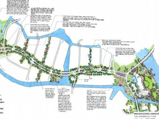 [成都]北美风格高档别墅区景观概念设计方案