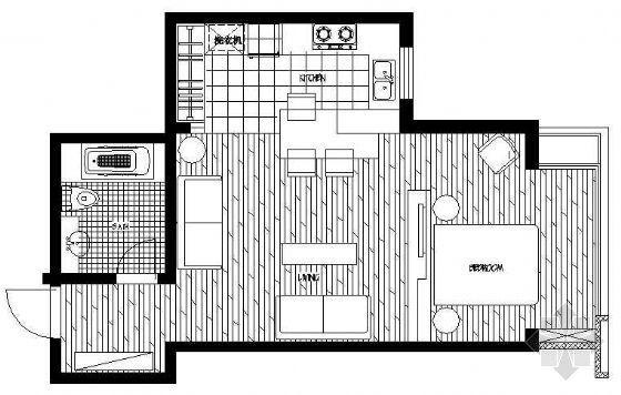 某单身公寓装修图