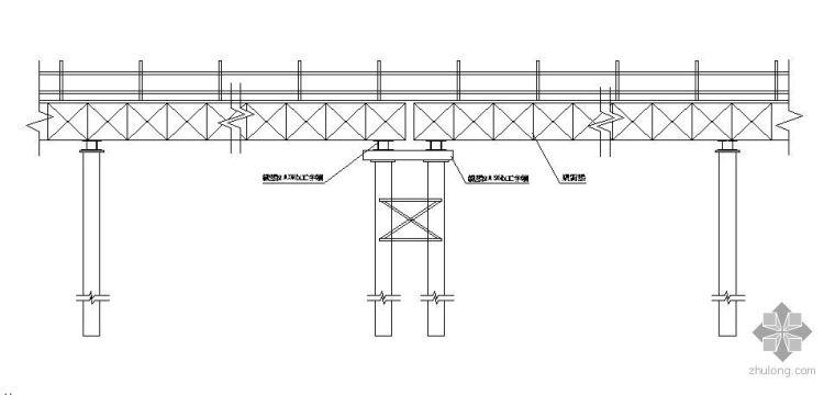 钢便桥及平台施工大样图