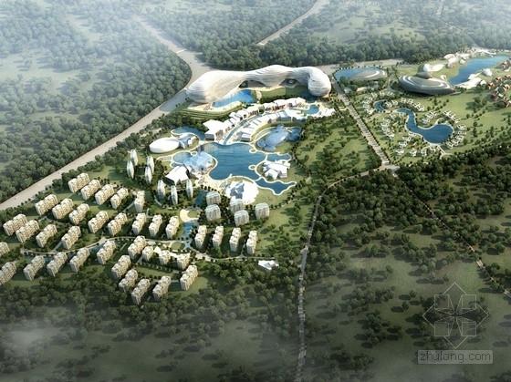 单体建筑酒店设计资料下载-[云南]流线型旅游度假区规划及单体建筑设计方案文本