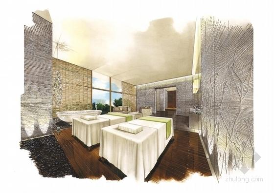 [广东]全球连锁豪华欧式风格商务酒店设计方案按摩房效果图