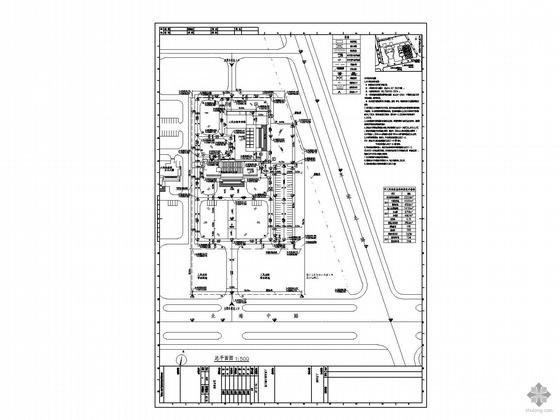 [江苏]某市人民法院规划总平面图