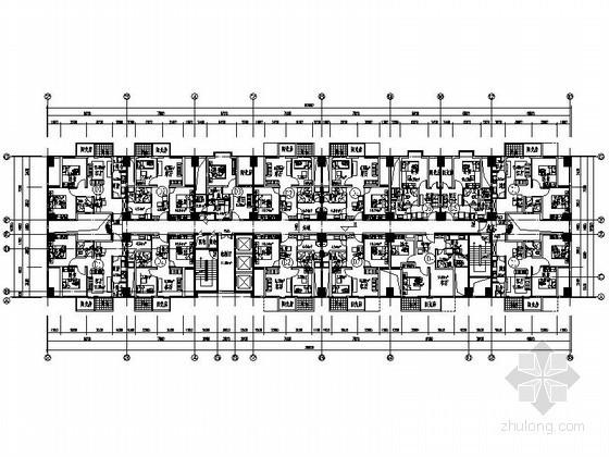某酒店式公寓户型组合平面图