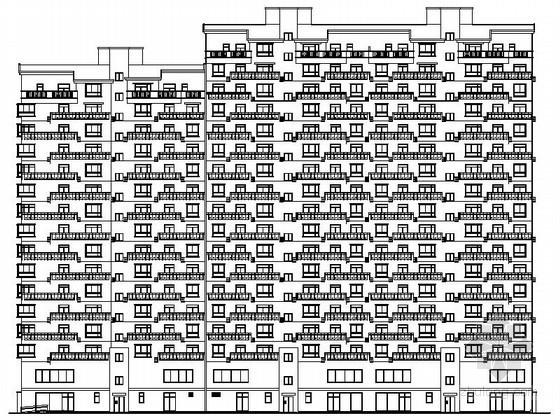 [河南]某小区十八层商住楼建筑施工图(南梯)