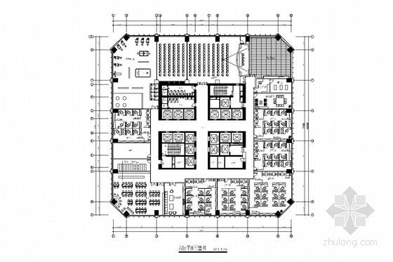 [深圳]经济贸易服务中心六、七层室内施工图