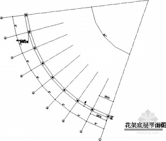 小区弧形花架结构施工图