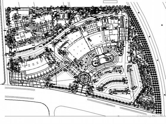 [宁波]豪华酒店室外环境园林景观工程施工图