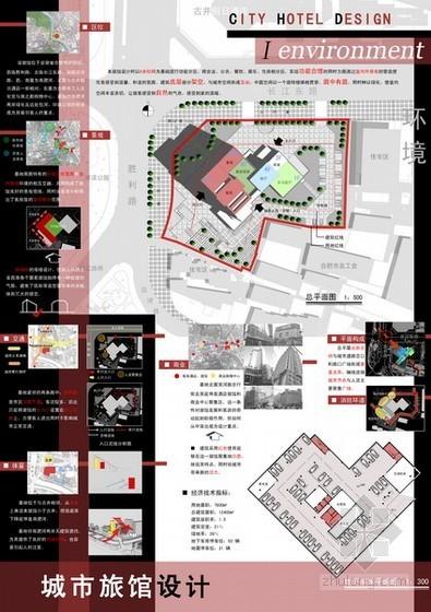 [课程设计]某城市旅馆建筑设计方案