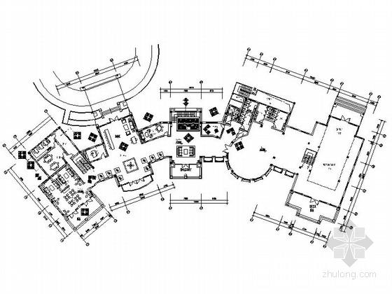 [湖北]国际现代风格疗养会所室内装修施工图
