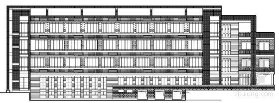某少体校学生四层宿舍楼建筑结构图