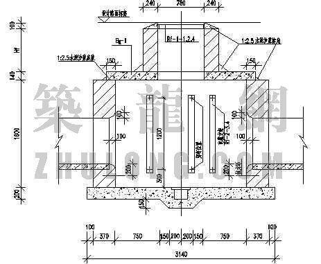 电信小号直通型人孔井设计图