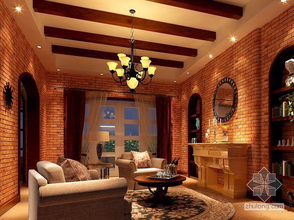 美式乡村风格设计(地下室)