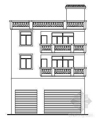 某三层私人住宅建筑方案图