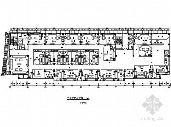 [宁夏]某国际大酒店三楼KTV室内装修图