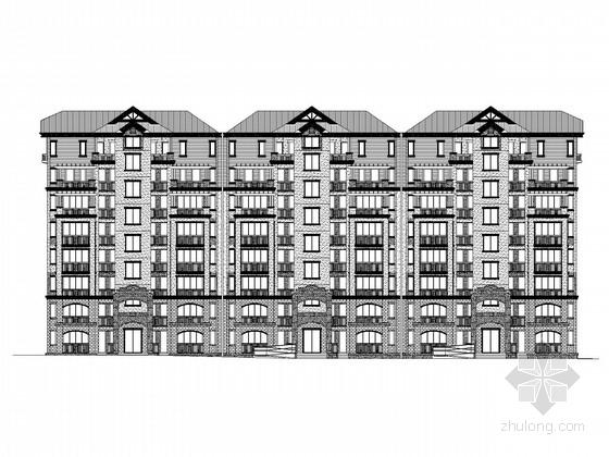 [重庆]8层欧式风格住宅楼建筑施工图