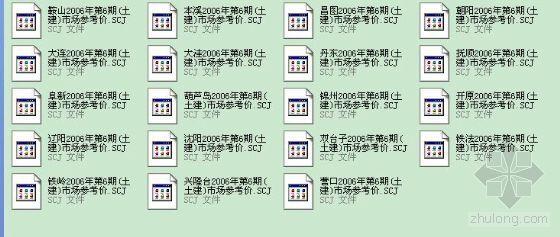 辽宁省2006年第6期(土建)各地参考价