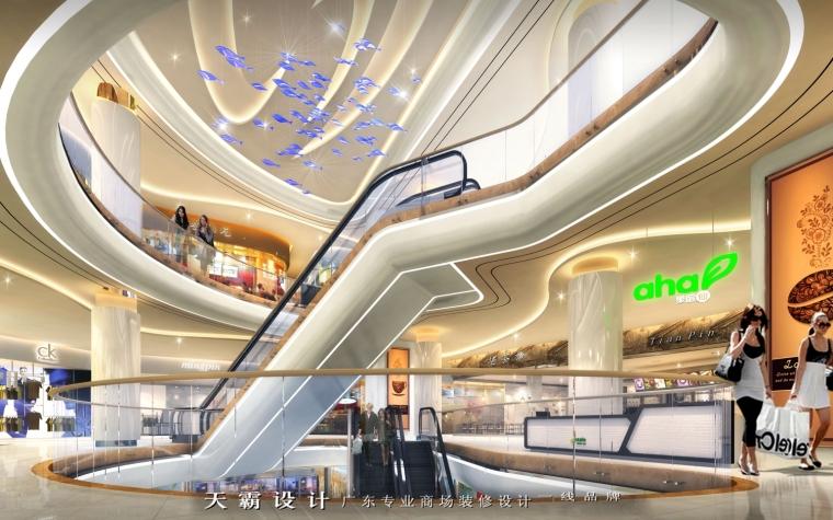 广东天霸设计实力打造创新型成都商场装修设计项目