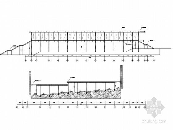 钢结构医院无障碍通道施工图