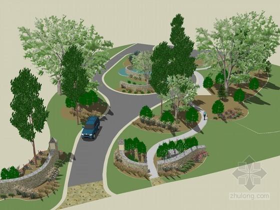 城市小景SketchUp模型下载