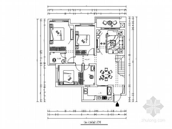 精品现代风格两层复式别墅室内装修施工图(含效果)