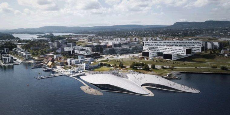 漂浮在大海上的白礁石——奥斯陆新水族馆方案设计