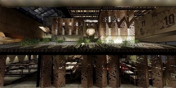 限免!国际一流连锁品牌新中式风格餐厅设计施工图(含方案)