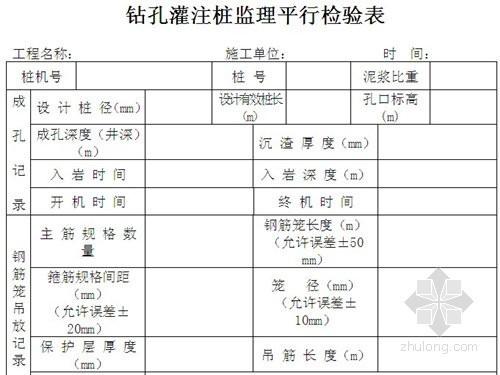 房建工程监理平行检测方案及用表(详细)