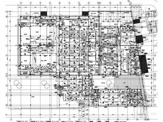 [上海]多层办公建筑空调通风及防排烟系统设计施工图(大院出品 人防设计)