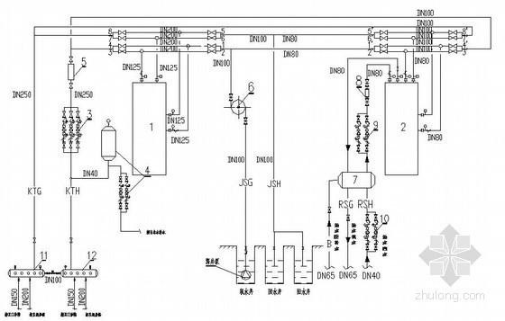 水源热泵三联供机房流程图