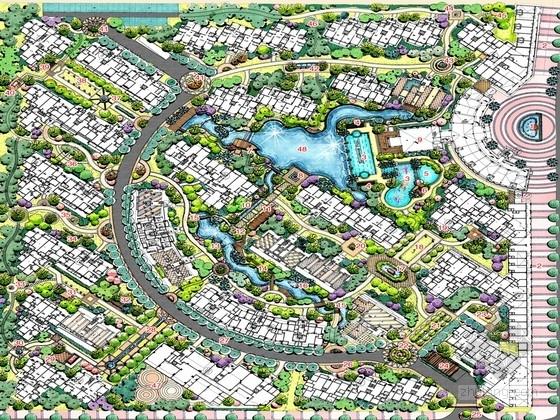 [广西]西班牙人文风情高档居住区景观规划设计方案