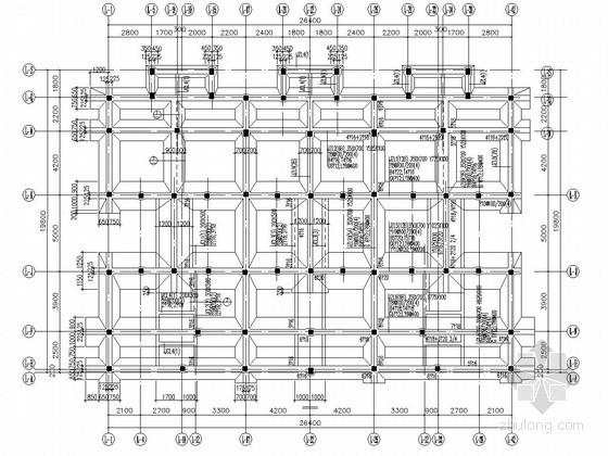 某项目复合地基条形基础部分结构施工图