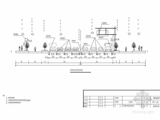 [江苏]2016年设计市政道路交通工程施工图24张