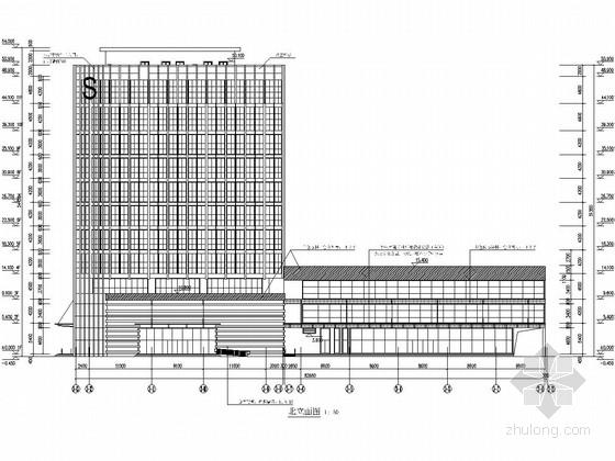 11层框剪结构交通信息楼及裙房结构施工图(含详细建筑图)