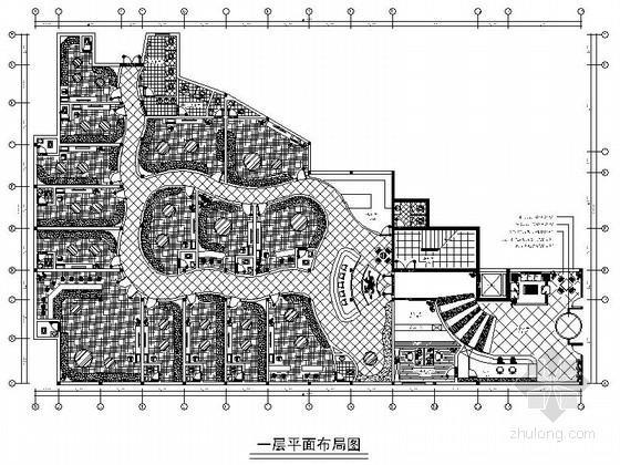[湖北]高端现代商务酒店室内装修施工图(含效果)