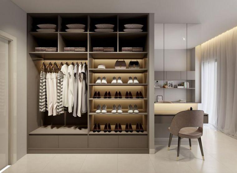 衣柜+梳妆台一体化设计,正流行!