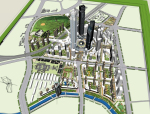 办公住宅区一体化城市设计方案sketchup模型