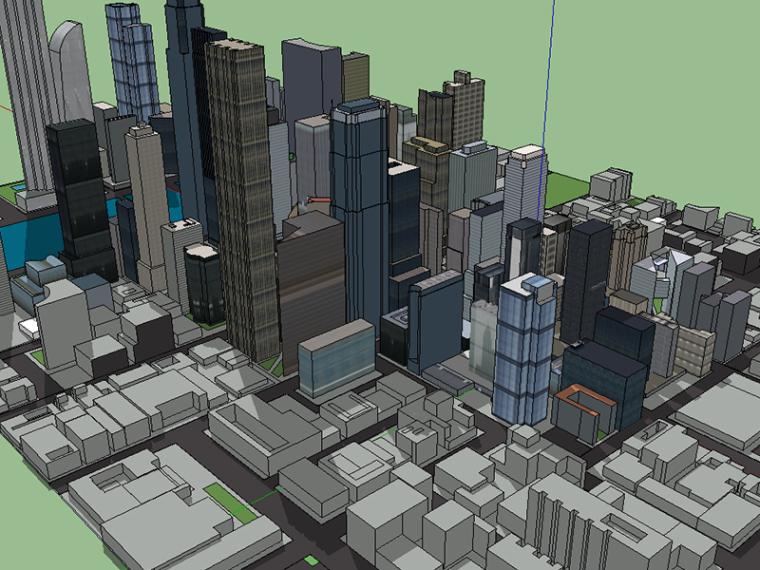 CBD地块SU建筑模型