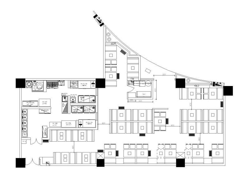 现代简约风格中餐厅全套施工图附效果图