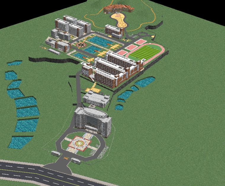 某学校规划SU建筑模型