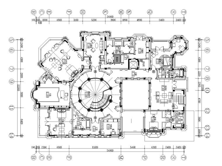 [上海]法式新古典高尔夫别墅样板间装饰施工图(附效果图)_1