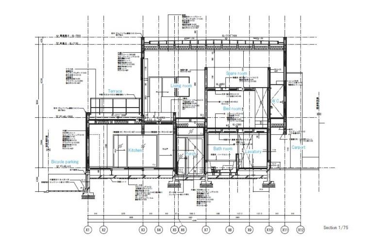 极简风格独栋住宅室内设计施工图(附实景图)
