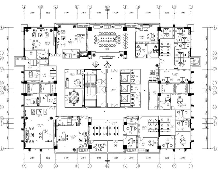 [重庆]某大厦办公室装饰设计全套施工图