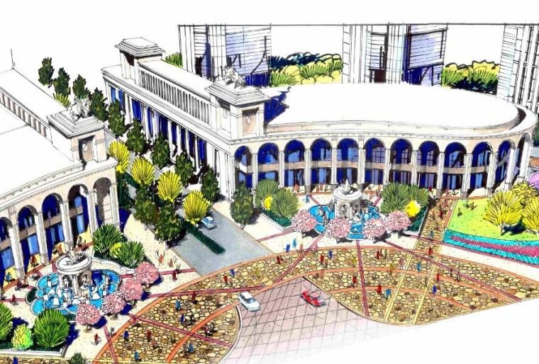 [江西]南昌居住主题公园主入口及商业街景观扩初设计