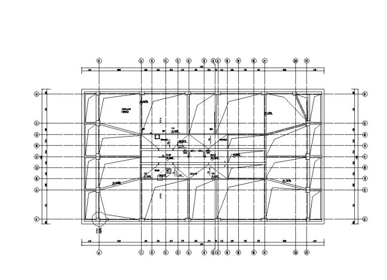 机房屋面层排水平面图