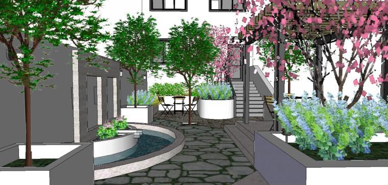 庭院景观设计(SU模型)