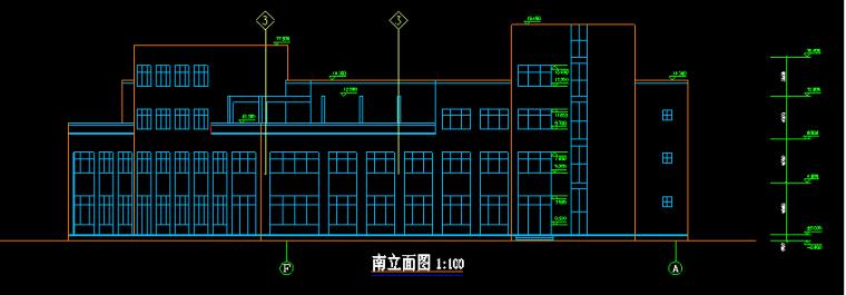 新多层办公酒店综合体建筑图