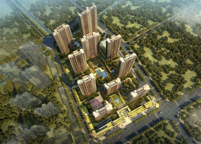 [江苏]南京现代公园居住区建筑设计方案文本