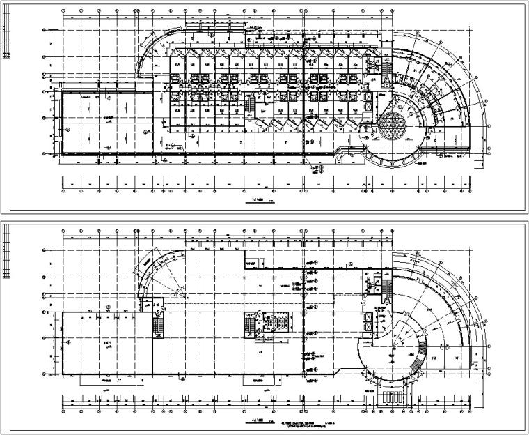 翡翠山湖酒店建筑设计全套施工图(CAD文件)