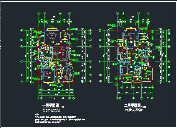 欧式别墅建筑结构施工图_3