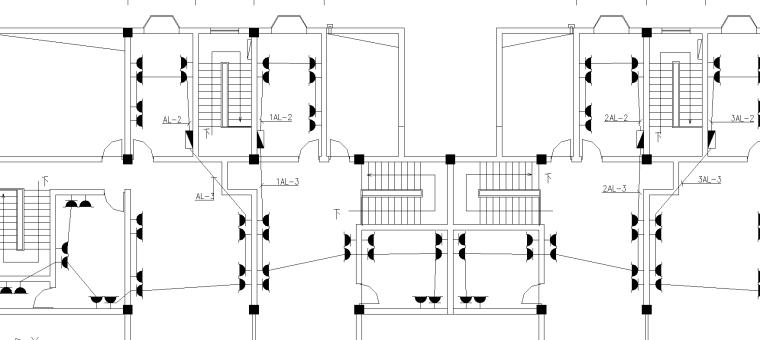 U楼梯图纸资料下载-某商住楼强弱电图纸